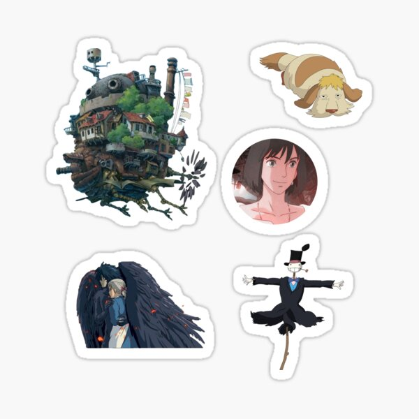 Howls moving castle design Sticker