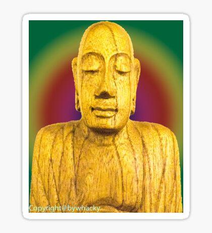 Wooden Budha  Sticker