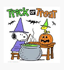 Snoopy Trick Or Treat Photographic Print
