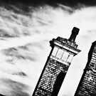 Chimneys of Kettering Station in b&w from Kettrin' Kollection by bywhacky