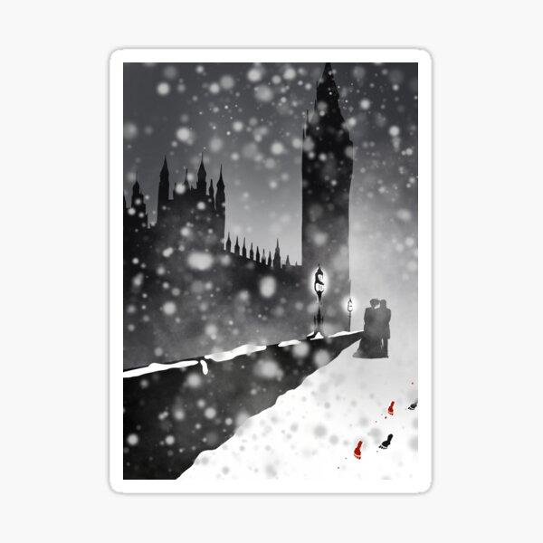 A Winters Night Art Sticker