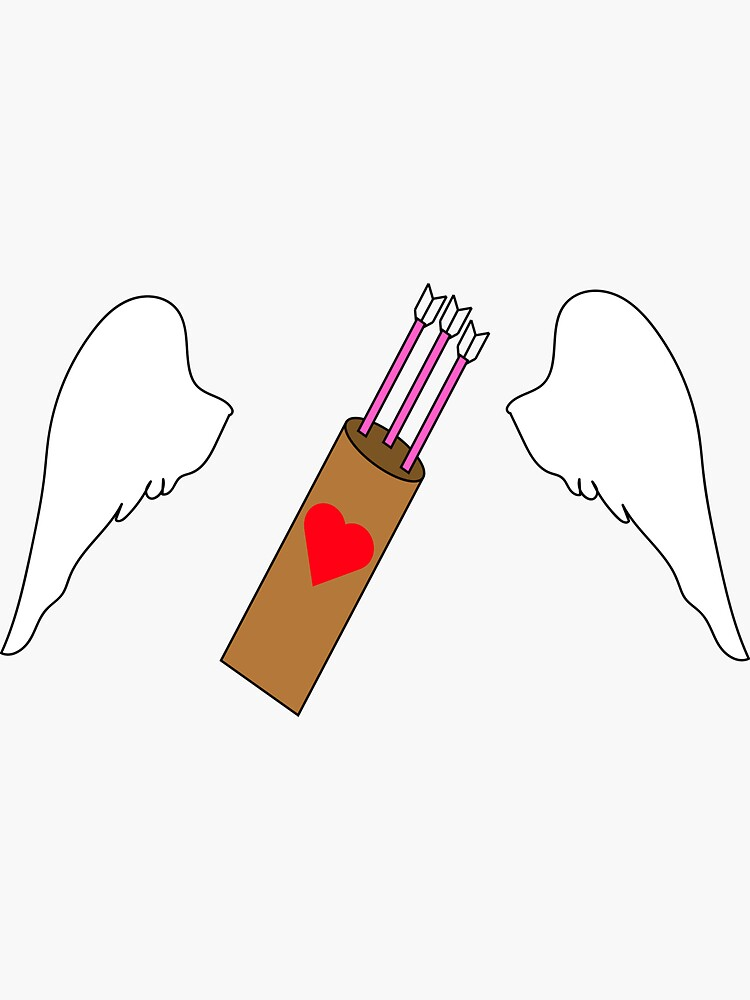 Valentine's Day Cupid Wings and Quiver  by HickamCreative
