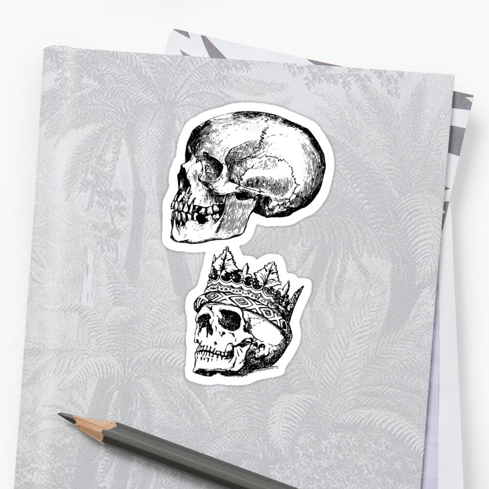 Skull Sticker Set by bandsnthings