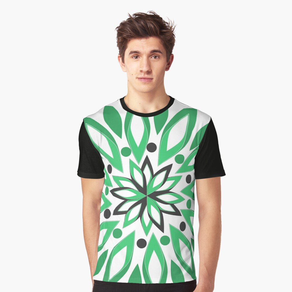 Abstract vegetation Graphic T-Shirt Front