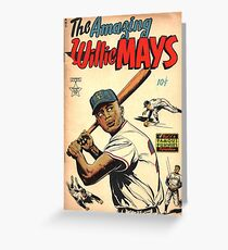 Vintage Comics - The Amazing Willie Mays Greeting Card