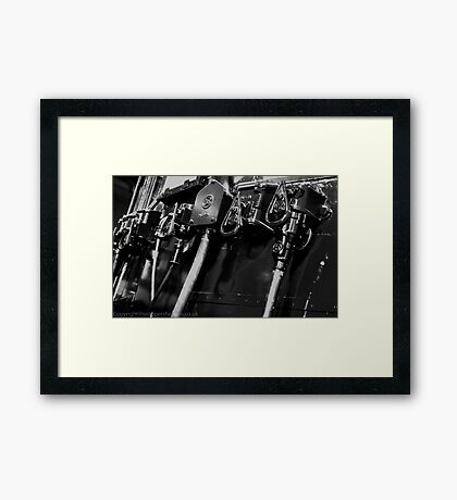Switches and controls  Framed Print