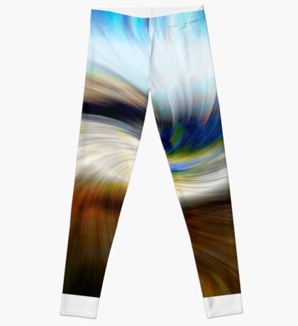 Welsh Mountains Abstract - 3 Leggings