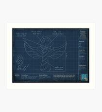 Summoner's Rift Ward Blueprints Art Print