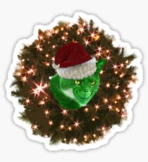 The Cat Who Peed on Christmas Sticker
