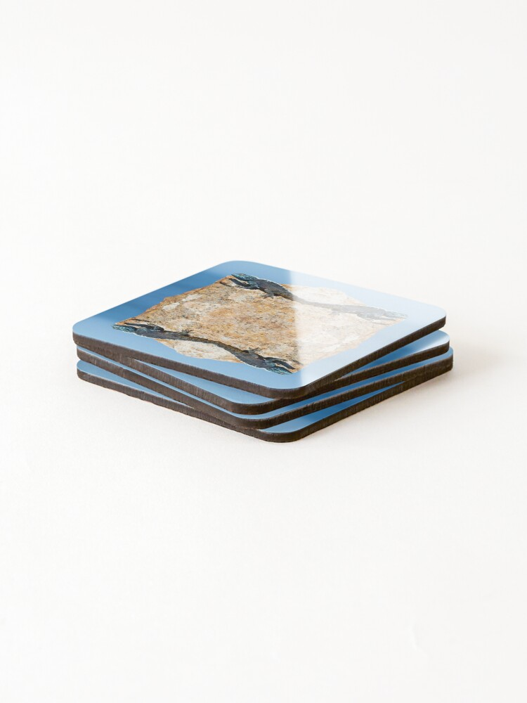 Alternate view of 4 Lizards On A Floating Rock Coasters (Set of 4)