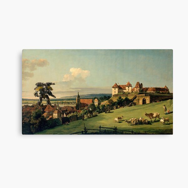 Feudal World First Contact Canvas Print