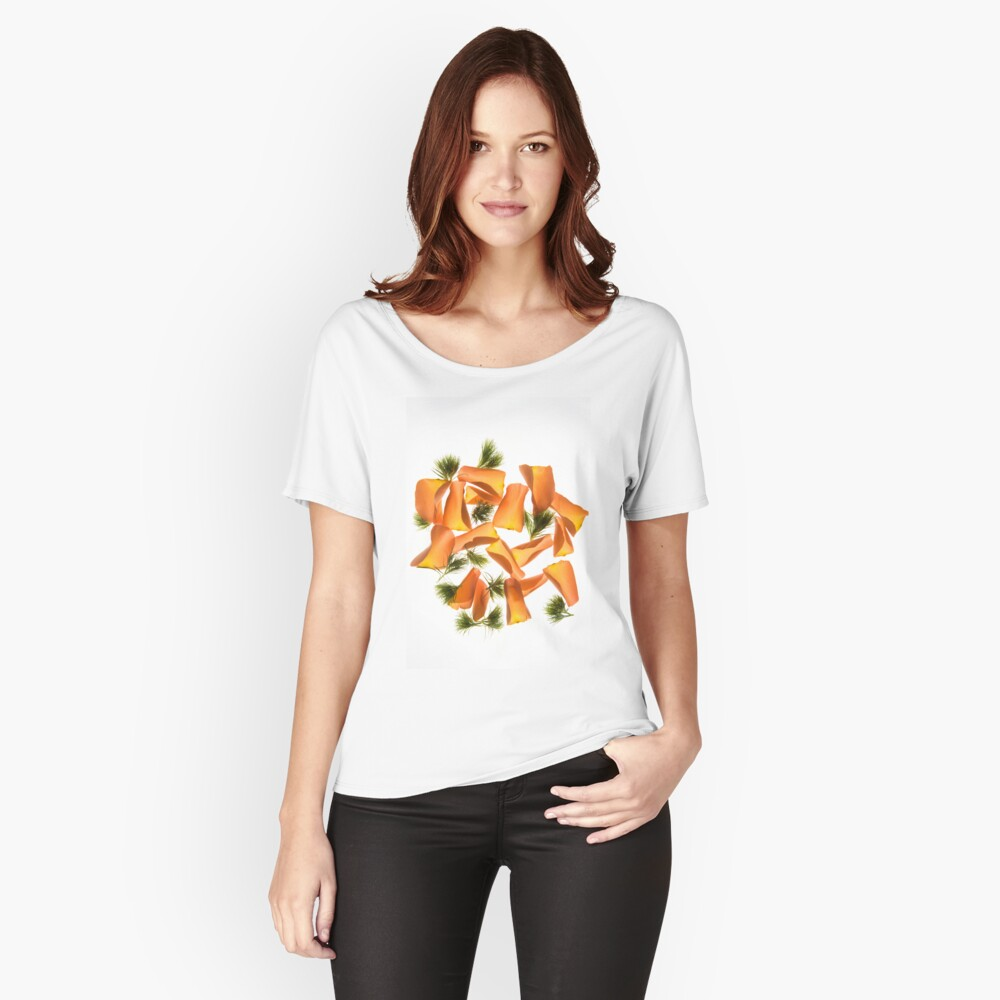 Back lit Flower petals photographed on a light box Women's Relaxed Fit T-Shirt Front