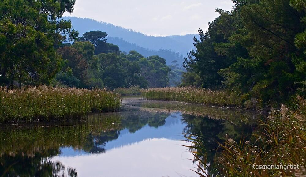 SCENES & SCENERY ~ Hazy Autumn by tasmanianartist by tasmanianartist