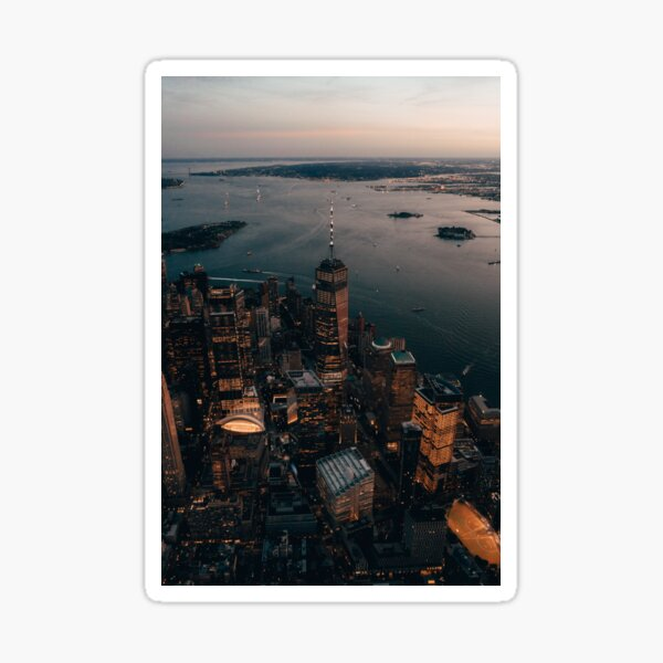 New York From Above Sticker
