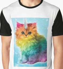 Unicorn Rainbow Cat Kitten Graphic T-Shirt
