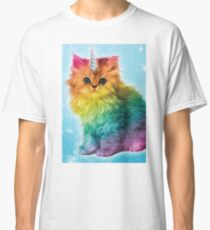 Unicorn Rainbow Cat Kitten Classic T-Shirt