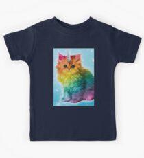 Unicorn Rainbow Cat Kitten Kids Tee