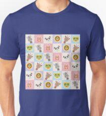 Set of funny animals  Unisex T-Shirt