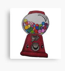 Happy Gum Machine Canvas Print