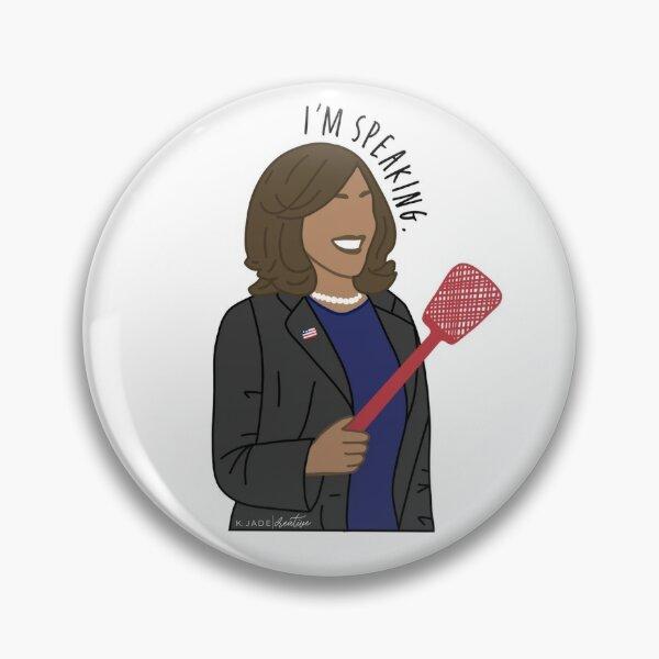 Madam Vice President Kamala Harris I'm Speaking Illustration Pin