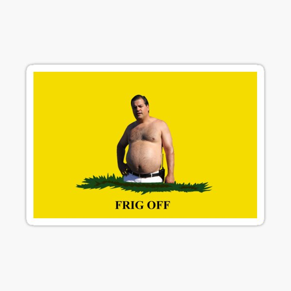 Frig Off Randy Trailer Park Boys Gadsden Flag Glossy Sticker