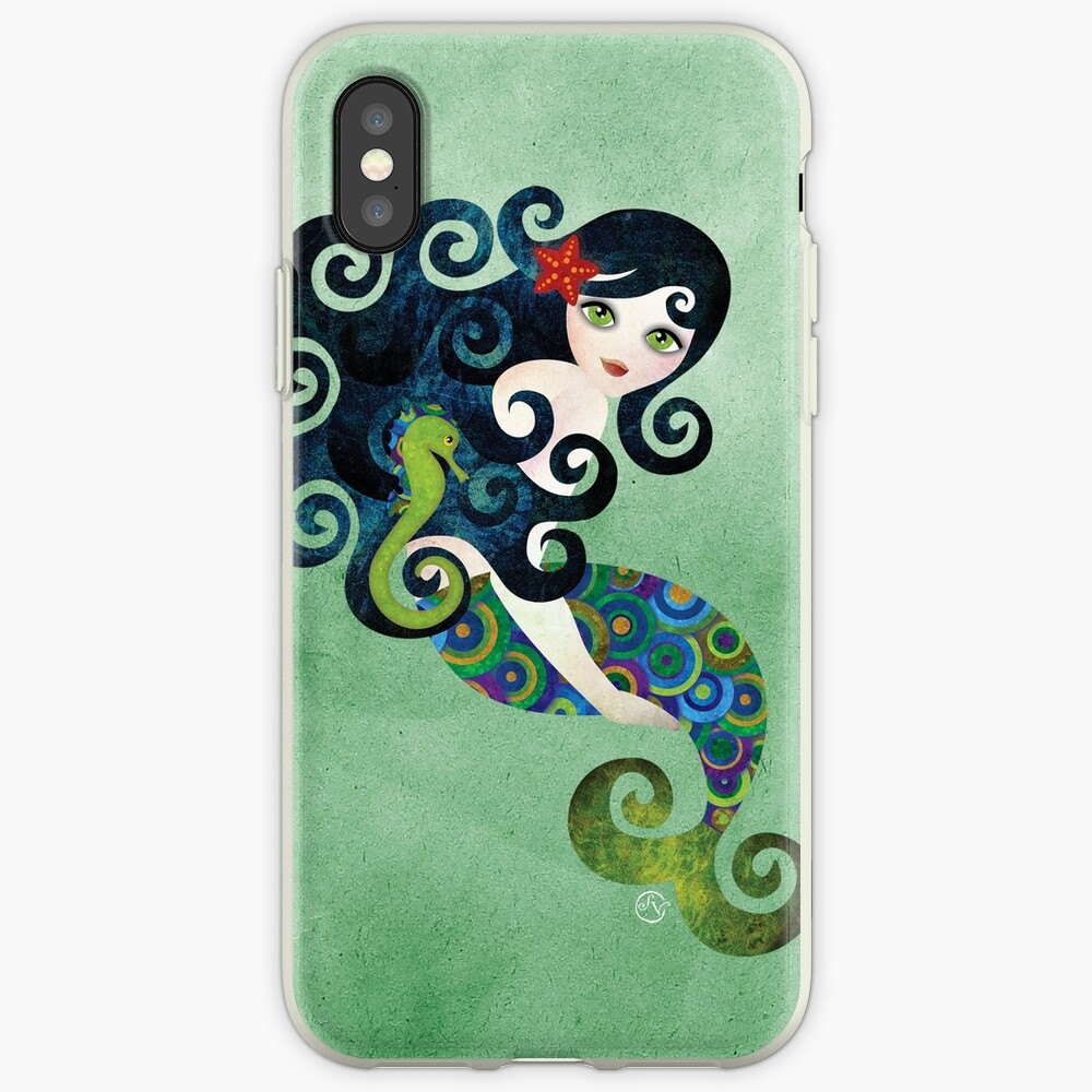 Aquamarine Mermaid iPhone-Hülle & Cover