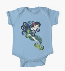 Aquamarine Mermaid Baby Body Kurzarm