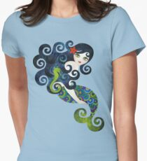 Aquamarine Mermaid Women's Fitted T-Shirt