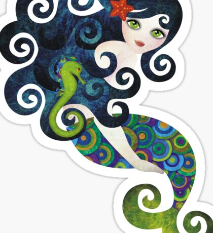 Aquamarine Mermaid Sticker