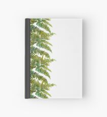 Watercolor fern and flowers Hardcover Journal