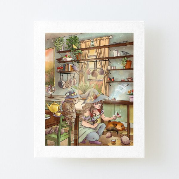 Kitchen Witch Canvas Mounted Print