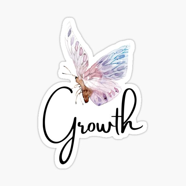 Growth Butterfly  Sticker