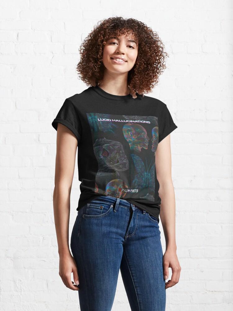 Alternate view of Lucid Hallucinations Artwork Classic T-Shirt
