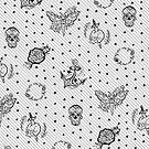 Polka Dot Sterne Tattoo Muster Design von Amanda Irene