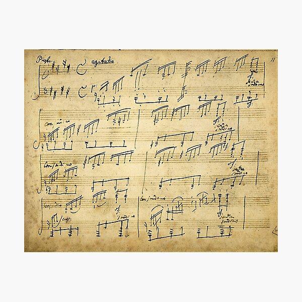 Ludwig van Beethoven Moonlight Sonata handwritten score Photographic Print