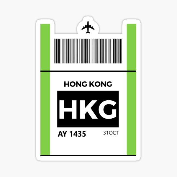 Hong Kong HKG airport Sticker