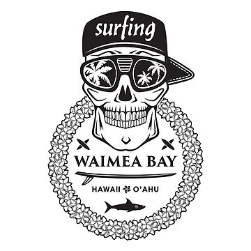 Surfing skull hawaii by valerisi