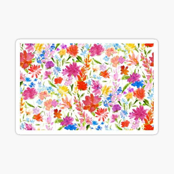 Wildflower Watercolor Print Sticker