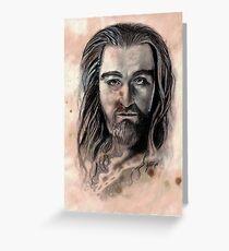 Thorin Oakenshield Caffeine Shock Greeting Card