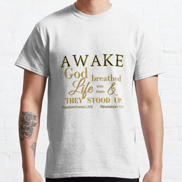 AWAKE - Black and Gold Classic T-Shirt