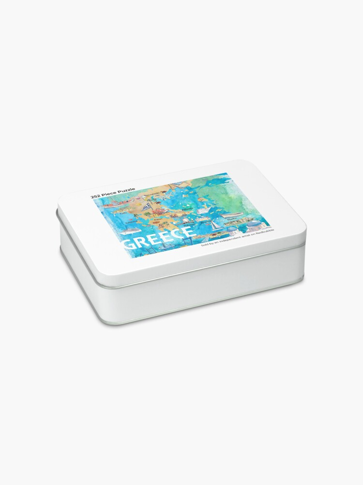 Alternate view of Greece Illustrated Travel Map with Landmarks and Highlights Jigsaw Puzzle