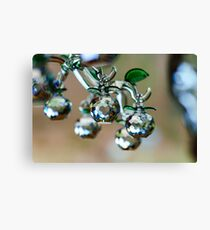Beautiful home decorative elements produced from crystal glass Canvas Print