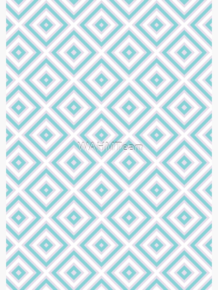 Pastel Pink and Blue Geometric Square Pattern by WAHMTeam
