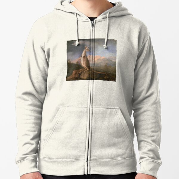 The Kongouro from New Holland, by George Stubbs Zipped Hoodie