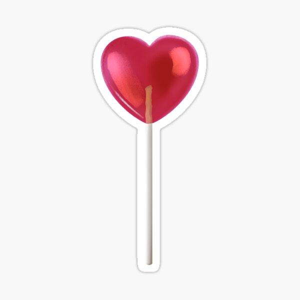 Red Lollipop Sticker