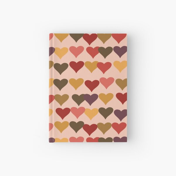Colourful Heart Print GReeting Card Hardcover Journal