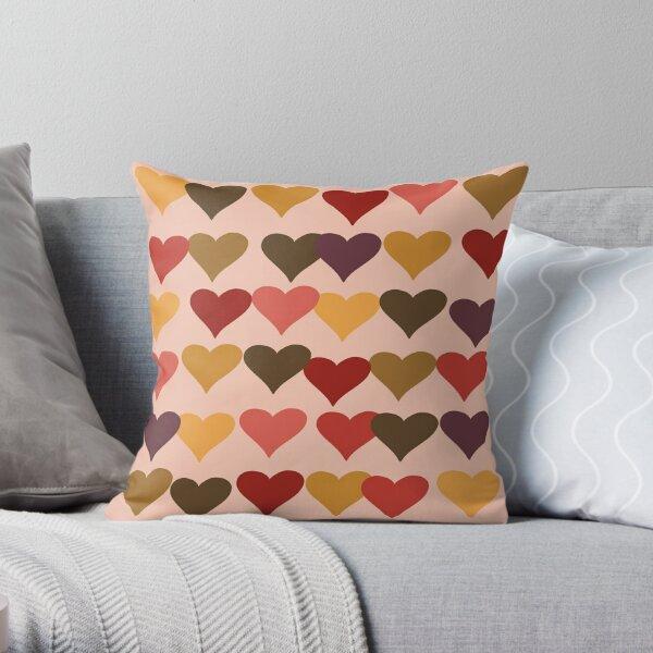 Colourful Heart Print GReeting Card Throw Pillow