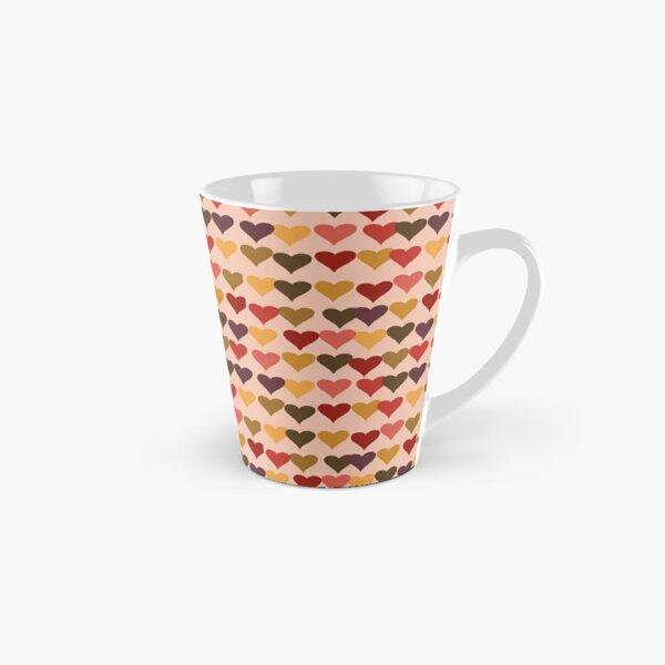 Colourful Heart Print GReeting Card Tall Mug
