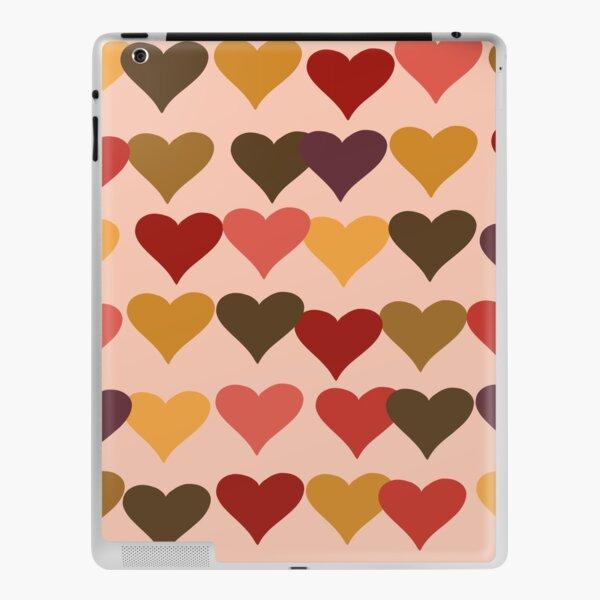 Colourful Heart Print GReeting Card iPad Skin