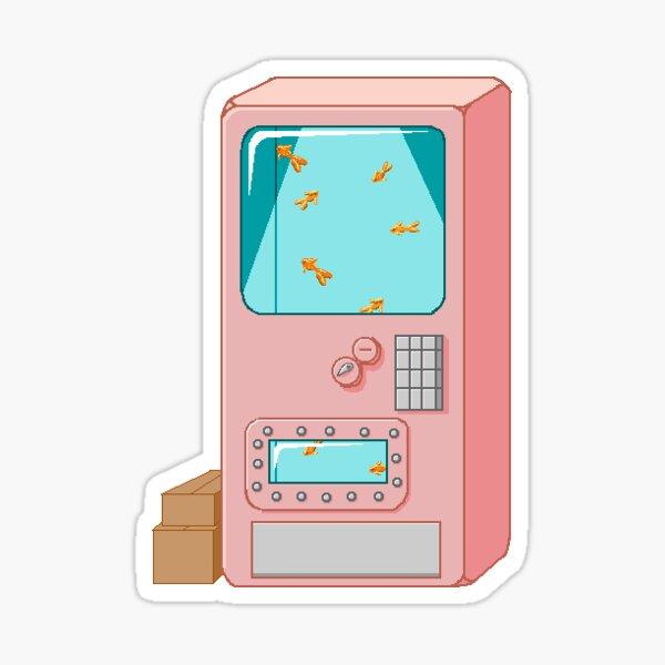 Goldfish Vending Machine Sticker